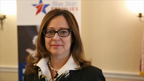 Kathy Roth-Douquet, CEO of Blue Star Families, discusses a new initiative by United Health Foundation and Blue Star Families during a forum on caregiver challenges and opportunities to train and support military caregivers (Video: Jeffrey MacMillan).