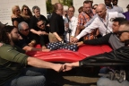 Dozens of ill and injured veterans take the Spartan Pledge, an oath against suicide, at The American Veterans Disabled for Life Memorial in Washington, D.C., on May 8. Photo Credit: DAV (Disabled American Veterans)