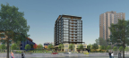 Brickstone Partners 3100 Lake Street proposed 13-story scheme (Photo: Business Wire)