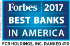 """Florida Community Bank Ranked #10 in Forbes 2017 """"Best Banks in America"""" (Graphic: Business Wire)"""