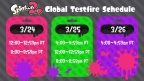 All indications are that the content for the Global Testfire will allow players to test four different main weapons, including the new Splat Dualies, as well as remixed versions of the iconic Splat Roller and Splat Charger. (Graphic: Business Wire)