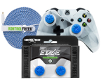 KontrolFreek launched the KontrolFreek Edge Collection, which includes the FPS Freek Edge Performance Thumbsticks, a KontrolFreek Ice Shield – which let gamers customize the look of first-party Xbox One and PlayStation 4 controllers without expensive paint jobs or messy DIY projects – and a blue KontrolFreek 12FT Gaming Cable. The KontrolFreek Edge Collection is available for PlayStation 4 and Xbox One exclusively through KontrolFreek.com for $32.99 USD. (Photo: Business Wire)