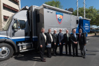 From Left to Right Port Houston Executive Director Roger Guenther, Port Commissioners Stephen DonCarlos, John D. Kennedy, Dean Corgey, Roy Mease, Clyde Fitzgerald and Theldon Branch stand in front of Port Houston's new Mobile Command Center. (Photo: Business Wire)