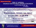 2nd Annual Orange County Real Estate Luncheon Invitation, Grant Recipients, and Sponsors